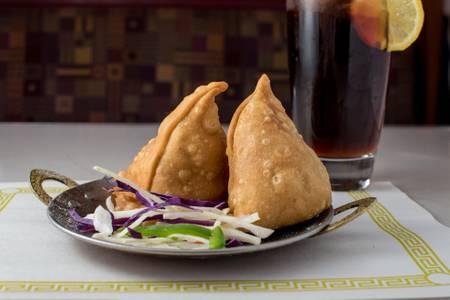 Vegetable Samosa (2 Slices) (V) from Maharani Restaurant in Madison, WI