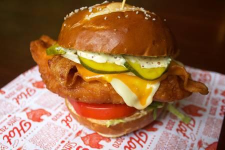 Packer Backer Chicken Sandwich from Midcoast Wings - Eastside in Madison, WI