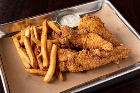 Hand Breaded Chicken Tenders Combo Meal from Midcoast Wings - Hilldale in Madison, WI
