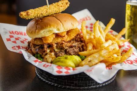 Smoked Brisket Burger from Monk's Bar & Grill - Sun Prairie in Sun Prairie, WI