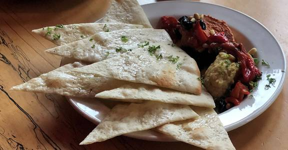Grilled Flatbread Plate (V) from Natt Spil in Madison, WI