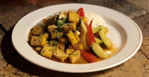 Three Cup Tofu (V) from Natt Spil in Madison, WI
