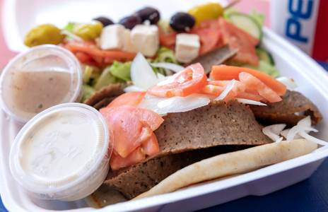 Gyro Plate from Niko's Gyros in Oshkosh, WI