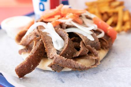 Gyro Sandwich from Niko's Gyros in Oshkosh, WI