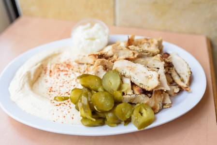 #49. Hummus and Sharwarma from Oasis Mediterranean Grill in Ann Arbor, MI