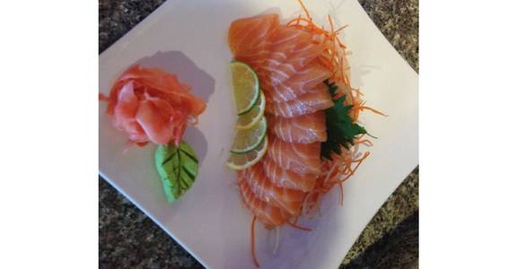144. Salmon Sashimi (10 Pcs) from Oishi Sushi & Grill in Walnut Creek, CA