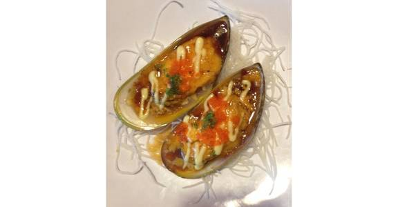 32. Baked Mussels (5 Pcs) from Oishi Sushi & Grill in Walnut Creek, CA