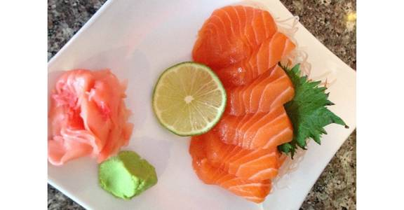 38. Sashimi Appetizer - Salmon (6 Pcs) from Oishi Sushi & Grill in Walnut Creek, CA