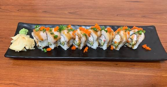86. Hamachi Lover Roll (8 Pcs) from Oishi Sushi & Grill in Walnut Creek, CA