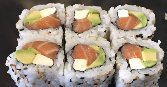 92. Philadelphia Roll (6 Pcs) from Oishi Sushi & Grill in Walnut Creek, CA