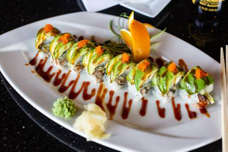 Dragon Roll from Oriental Bistro & Grill in Lawrence, KS