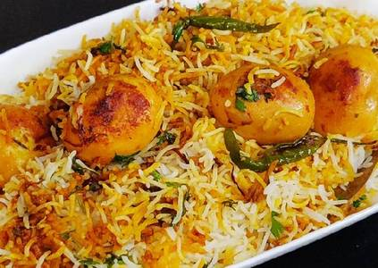 Egg Biryani from Pariwaar Delights in Jersey City, NJ