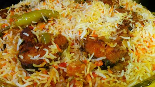 Fish Biryani from Pariwaar Delights in Jersey City, NJ