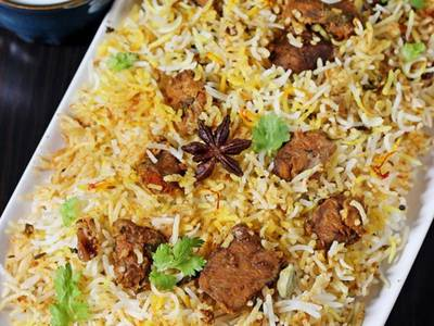 Goat Biryani from Pariwaar Delights in Jersey City, NJ