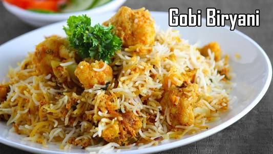 Gobi Manchurian Biryani from Pariwaar Delights in Jersey City, NJ