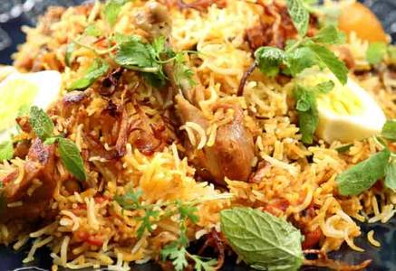 Natu kodi Fry Biryani from Pariwaar Delights in Jersey City, NJ
