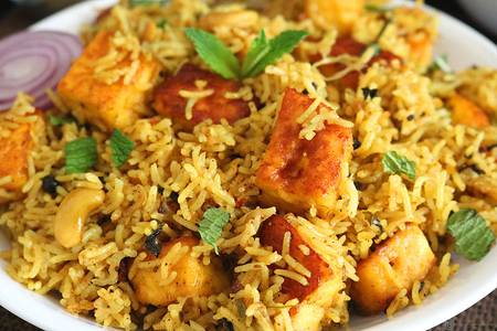 Paneer Biryani from Pariwaar Delights in Jersey City, NJ