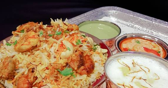 Shrimp Biryani from Pariwaar Delights in Jersey City, NJ