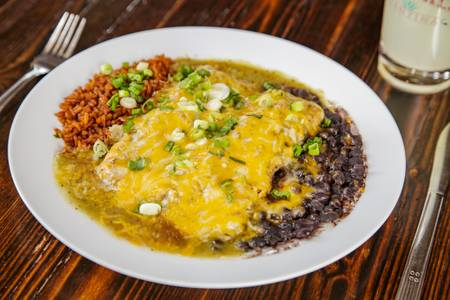 Enchiladas from Pasqual's Cantina - East Wash in Madison, WI