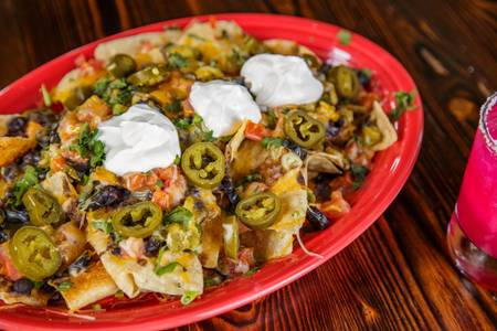 Nachos Deluxe from Pasqual's Cantina - East Wash in Madison, WI