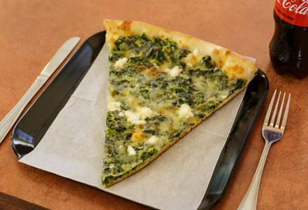 Spinach and Feta Slice from Pizza Di Roma in Madison, WI