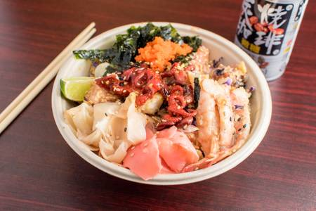 Signature Ocean Feast Poke Bowl from Poke Poke in Madison, WI