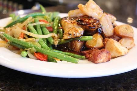 Bourbon Chicken & Shrimp from Powercat Sports Grill in Manhattan, KS
