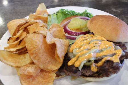 Chipotle Jack Burger from Powercat Sports Grill in Manhattan, KS