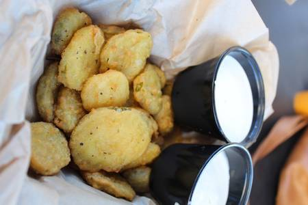 Fried Pickle Chips from Powercat Sports Grill in Manhattan, KS