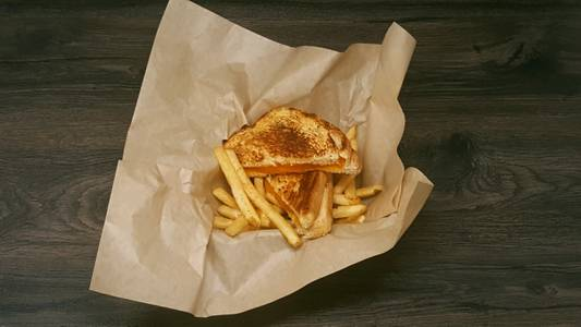 Kids Grilled Cheese Basket from Powercat Sports Grill in Manhattan, KS