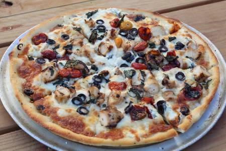 Mediterranean Family Pizza from Powercat Sports Grill in Manhattan, KS
