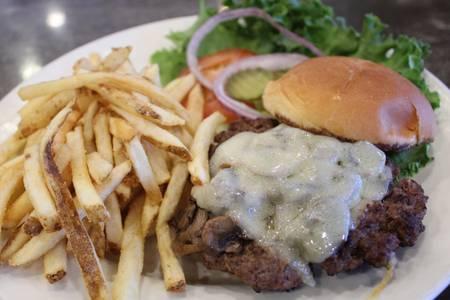 Mushroom & Swiss Burger from Powercat Sports Grill in Manhattan, KS