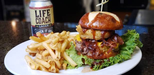 Sarsaparilla Burger from Powercat Sports Grill in Manhattan, KS
