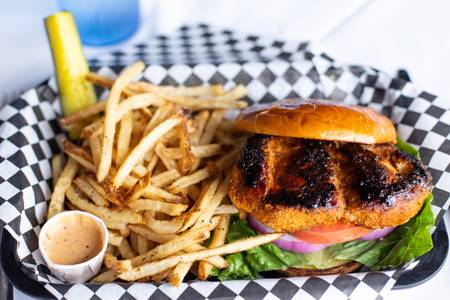 Blackened Chicken Sandwich from Quinton's  Bar & Deli in Lawrence, KS