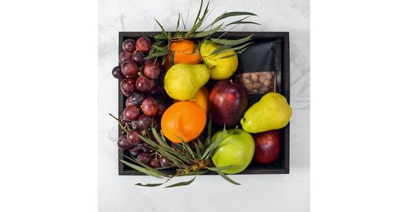 Seasonal Fruit Crate from Red Square Flowers in Madison, WI