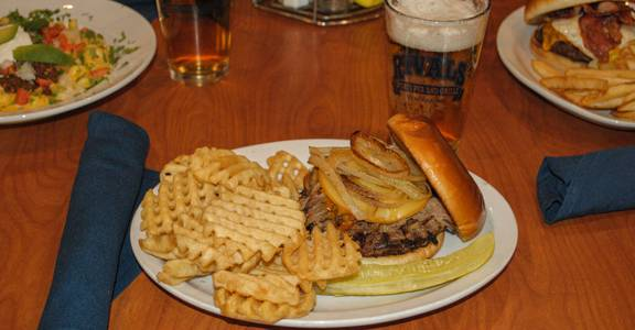 BBQ Smokehouse Burger from Rivals Sports Pub & Grille in Kenosha, WI