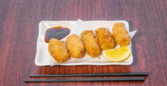 Kaki Fry from Sakura Sushi in San Rafael, CA