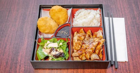 Lunch Bento Box with 2 Items from Sakura Sushi in San Rafael, CA