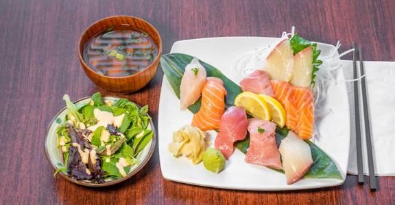 Lunch Nigiri (5 Pieces) & Sashimi (5 Pieces) from Sakura Sushi in San Rafael, CA