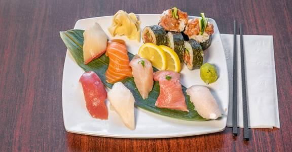 Lunch Nigiri (7 Pieces) & Spicy Tuna Roll from Sakura Sushi in San Rafael, CA