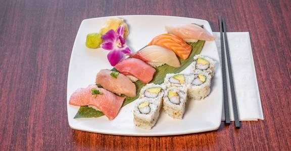 Lunch Sushi Combo from Sakura Sushi in San Rafael, CA