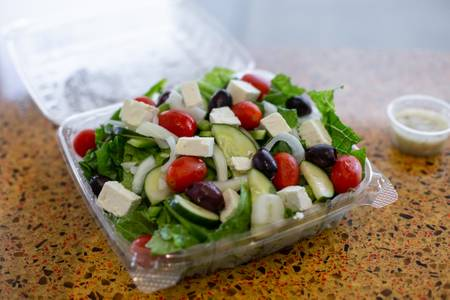 Greek Salad from Sarpino's Pizzeria - Washington Ave. in Minneapolis, MN