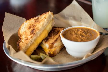 Wisconsin 4-Cheese Grilled Cheese from SCONNIEBAR in Madison, WI