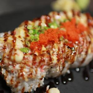 Baked Scallop Roll from Sequoia Ramen & Sushi Lounge in Madison, WI