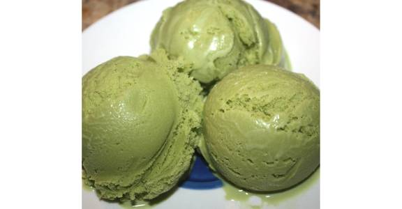 Green Tea Ice Crem from Sequoia Ramen & Sushi Lounge in Madison, WI
