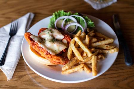 Buffalo Chicken Sandwich from Set'em Up Jacks in Lawrence, KS