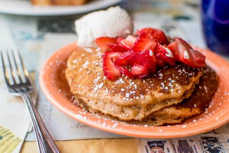 Sweet Potato Oatmeal Pancakes from Short Stack Eatery in Madison, WI