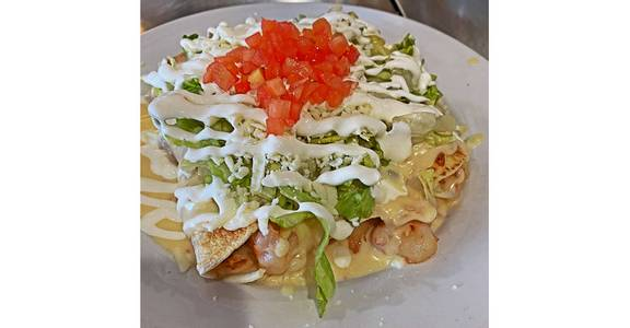 Shrimp Enchiladas from Silly Serrano Mexican Restaurant in Eau Claire, WI