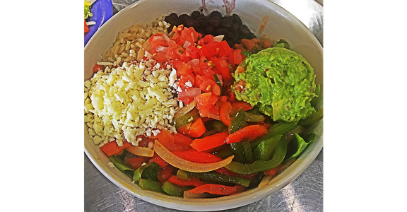 Veggie Burrito Bowl from Silly Serrano Mexican Restaurant in Eau Claire, WI