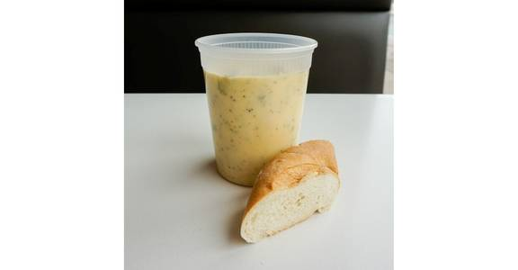 Broccoli Cheddar Soup from Bassett Street Soup Spot in Madison, WI